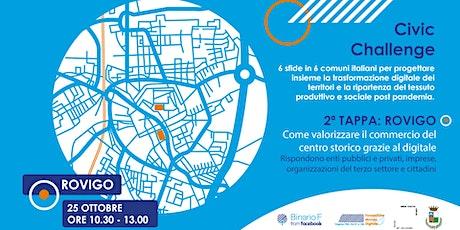 Civic Challenge Rovigo| Valorizzare il commercio del centro con il digitale biglietti