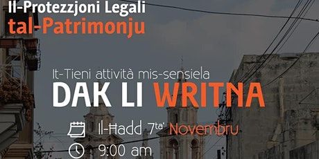 Dak li Writna #02 - il-Protezzjoni Legali tal-Patrimonju tickets