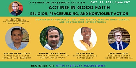 Acting in Good Faith: Religion, Peacebuilding, and Nonviolent Action tickets