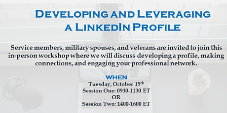 Developing and Leveraging a LinkedIn Profile - Ft. Benning tickets