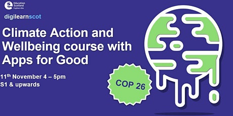 Climate Action & Wellbeing - Apps for Good course tickets