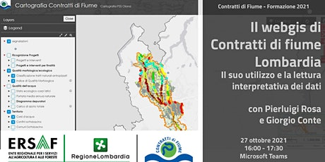 Il webgis di Contratti di fiume Lombardia - la lettura dei dati biglietti
