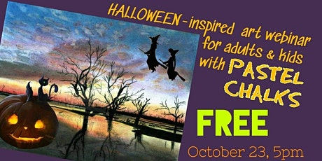 Free Art Webinar for All - Halloween-Inspired Landscape with Pastel Chalks tickets
