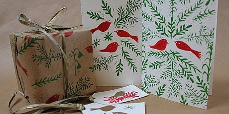 Lino Print Christmas Card and Wrapping Paper Workshop tickets