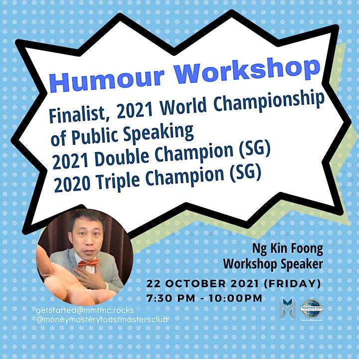 Online Public Speaking Workshop - LOL: Injecting Humor in your Speech! image