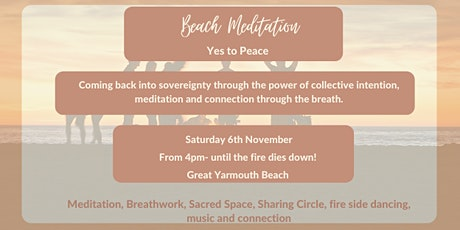 Beach Meditation- Yes to Peace tickets