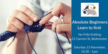 Absolute Beginners - learn to knit tickets