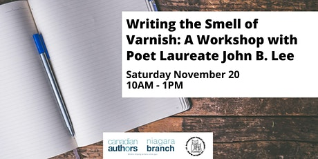 Writing the Smell of Varnish: A Workshop with Poet Laureate John B. Lee tickets