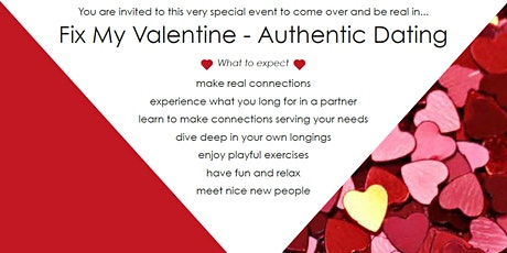 FIX MY VALENTINE - AUTHENTIC DATING - BY STERRE & DATING tickets