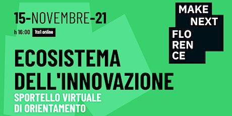 Ecosistema dell'Innovazione: Sportello virtuale di orientamento biglietti
