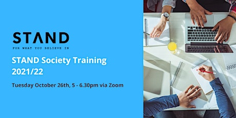STAND Society Training 2021/22 tickets