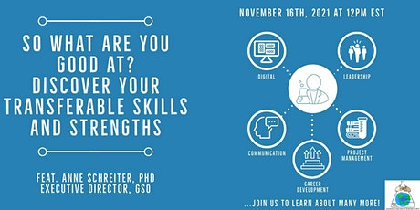So, what are you good at? Discover your transferable skills and strengths! tickets