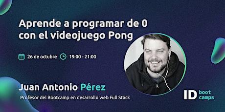 Aprende a programar de 0 con el videojuego Pong entradas
