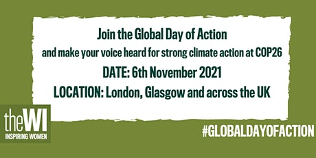 The WI goes to the Global Day of Action, London tickets