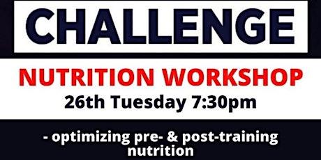 Challenge nutrition workshop tickets