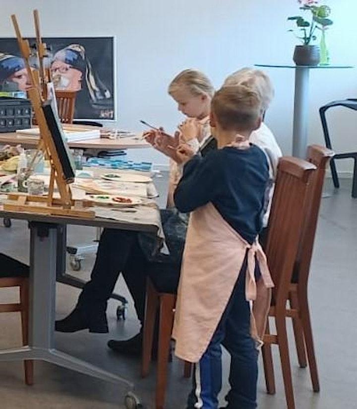 Afbeelding van Oma - kleinkind schilderworkshop