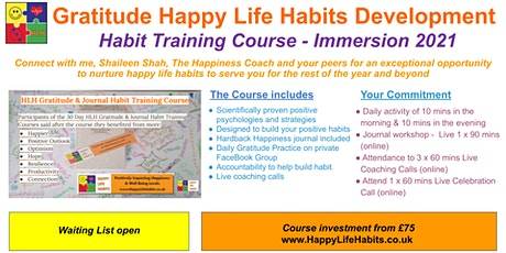 HLH Q&A for 30 Day Gratitude & Journal Habit Immersion Training Course tickets