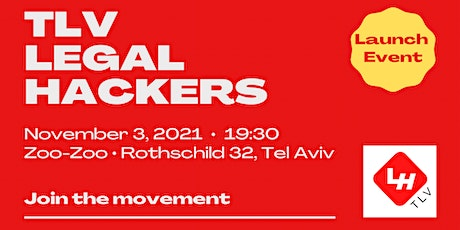 TLV Legal Hackers - Launch Event tickets