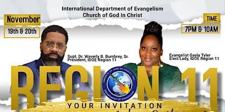 """Region 11  International Evangelism Dept.  COGIC 2-Day Summit  """"Gathering"""" tickets"""