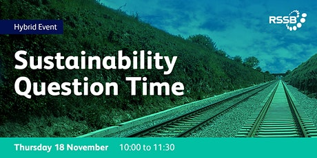 Sustainability Question Time tickets