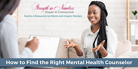 """""""How to Find the Right Mental Health Counselor"""" Webinar ingressos"""