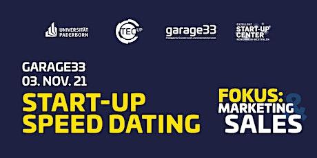 garage33 Start-up Speed Dating – Marketing & Sales Tickets