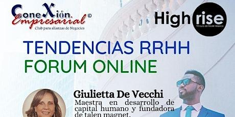 Foro Online Tendencias  Recursos Humanos boletos