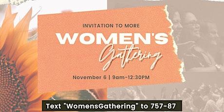 GateCity Women's Gathering: Invitation to More tickets