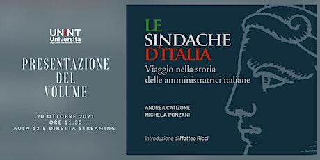 """Presentazione del volume """"Le sindache d'Italia"""" biglietti"""