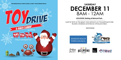 Mission Beach Community Event - Toy Drive & Beach Cleanup tickets