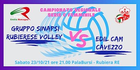 Volley Serie C 23/10/21 Gruppo Sinapsi Rubierese V biglietti