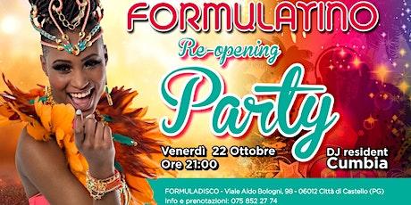 FormulaLatino Re-Opening biglietti