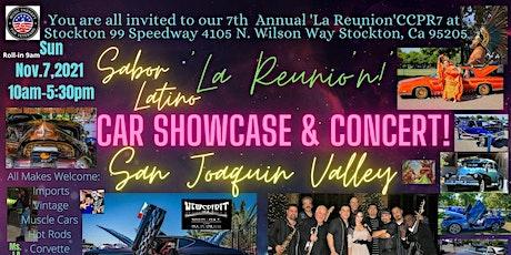"7th Annual Sabor Latino ""La Reunion"" Car Showcase and Music tickets"