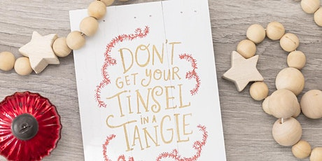 Free Tinsel In A Tangle Virtual Art Workshop - Learn How To Make Sign tickets