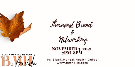 Therapist  Brand and Networking tickets