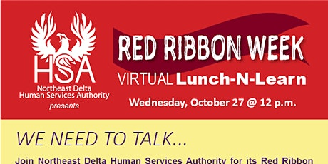NEDHSA's Red Ribbon Week Virtual Lunch-N-Learn tickets