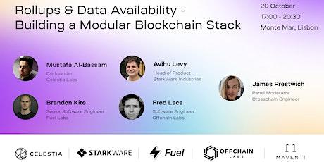 Rollups and Data Availability - Building a Modular Blockchain Stack bilhetes