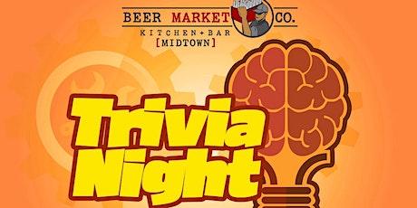Beer Market Co. Midtown Trivia Wednesdays tickets