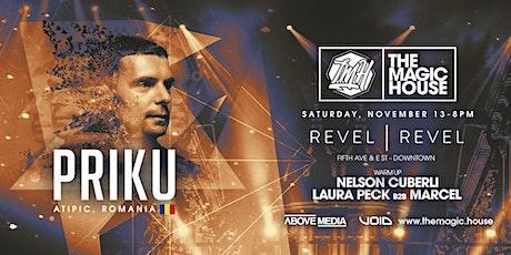 The Magic House - PRIKU  + Nelson Cuberli + Laura Peck b2b Marcel tickets