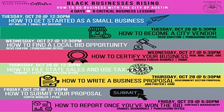 Black Businesses Rising: How To Do Business With the City tickets