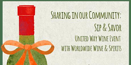 Sip & Savor: United Way Annual Wine Event tickets
