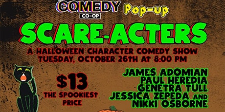 The Comedy Co-op Pop-up: Scare-acters tickets