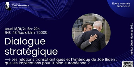 Dialogue stratégique Europe-USA billets