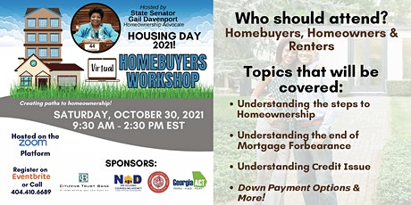 VIRTUAL APPROVED HOMEBUYER EDUCATION WORKSHOP tickets