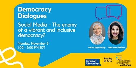 Social Media - The enemy of a vibrant and inclusive democracy? tickets