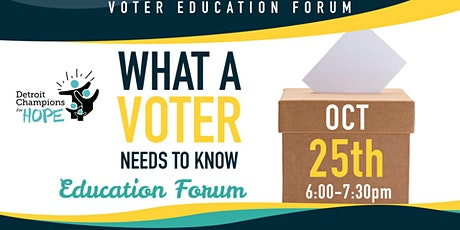 What A Voter Needs to Know Education Forum: 2021 Municipal Elections tickets