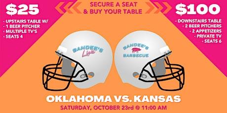 Oklahoma vs. Kansas Watch Party tickets