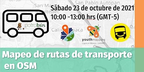 Taller mapeo de rutas de transporte con OSM entradas