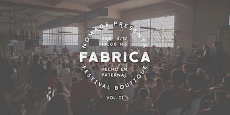 FÁBRICA Festival Nómade 4/12 entradas