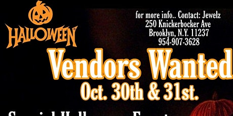Halloween Pop up shop tickets